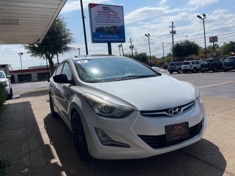 2015 Hyundai Elantra for sale at Magic Auto Sales in Dallas TX