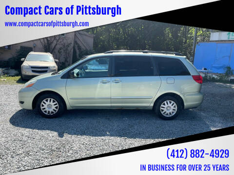 2006 Toyota Sienna for sale at Compact Cars of Pittsburgh in Pittsburgh PA