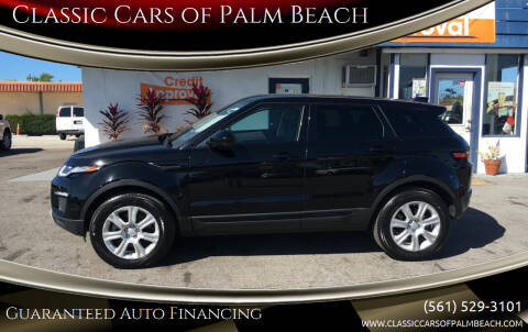 2018 Land Rover Range Rover Evoque for sale at Classic Cars of Palm Beach in Jupiter FL