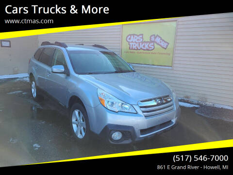 2013 Subaru Outback for sale at Cars Trucks & More in Howell MI