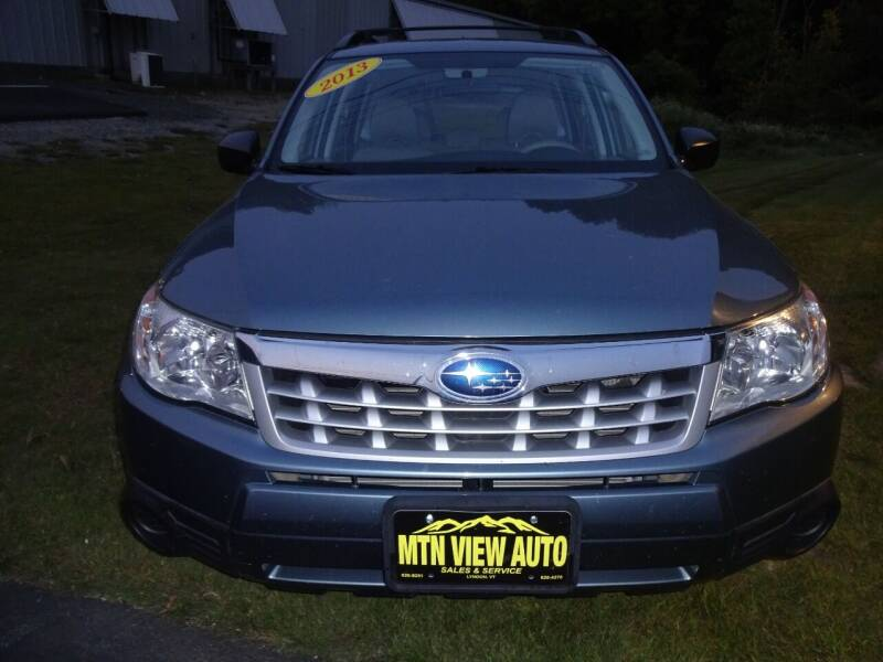 2013 Subaru Forester for sale at MOUNTAIN VIEW AUTO in Lyndonville VT
