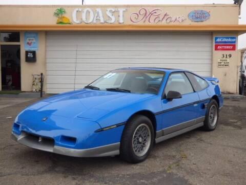 1987 Pontiac Fiero for sale at Coast Motors in Arroyo Grande CA