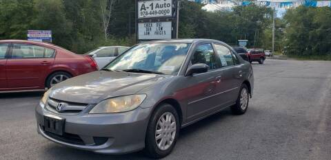 2004 Honda Civic for sale at A-1 Auto in Pepperell MA