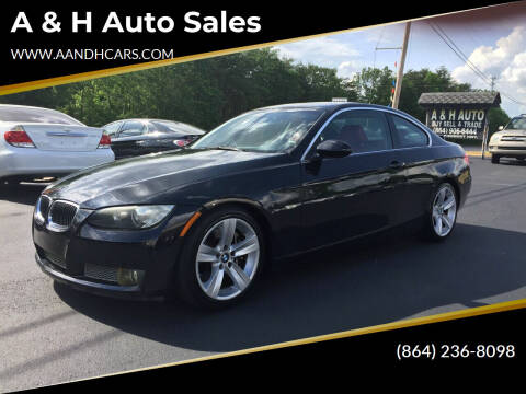 2008 BMW 3 Series for sale at A & H Auto Sales in Greenville SC