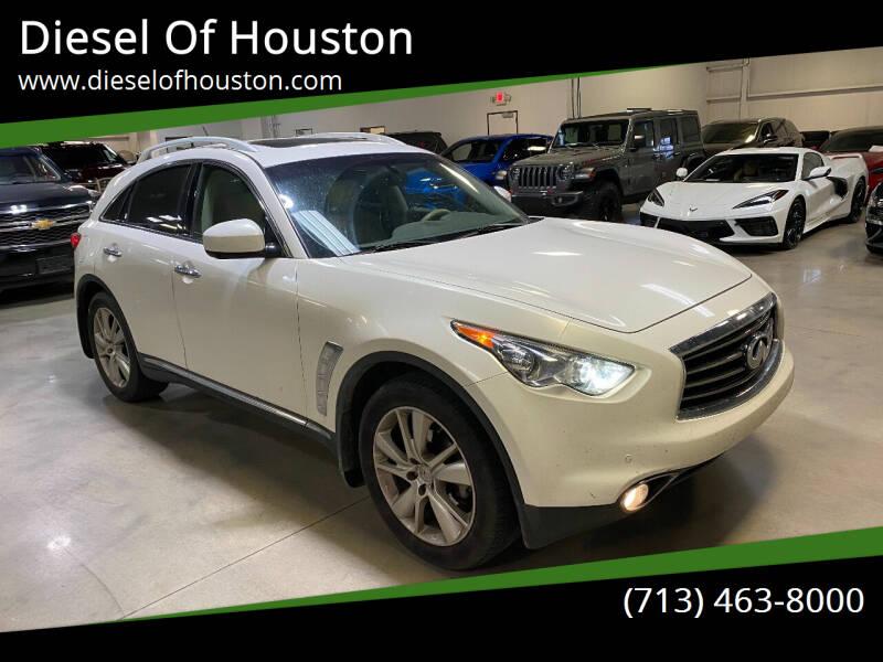 2013 Infiniti FX37 for sale at Diesel Of Houston in Houston TX