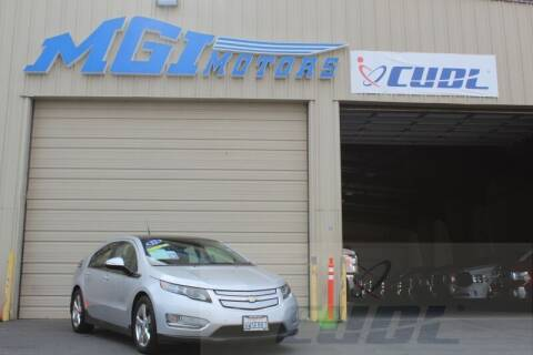 2012 Chevrolet Volt for sale at MGI Motors in Sacramento CA