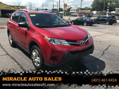 2013 Toyota RAV4 for sale at MIRACLE AUTO SALES in Cranston RI