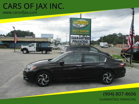 2017 Honda Accord for sale at CARS OF JAX INC. in Jacksonville FL