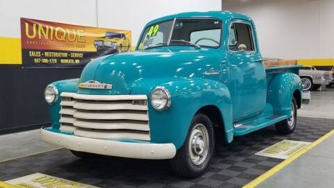 1949 Chevrolet 3100 for sale at UNIQUE SPECIALTY & CLASSICS in Mankato MN