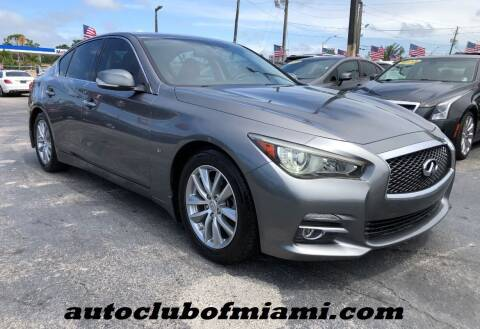 2014 Infiniti Q50 for sale at AUTO CLUB OF MIAMI in Miami FL