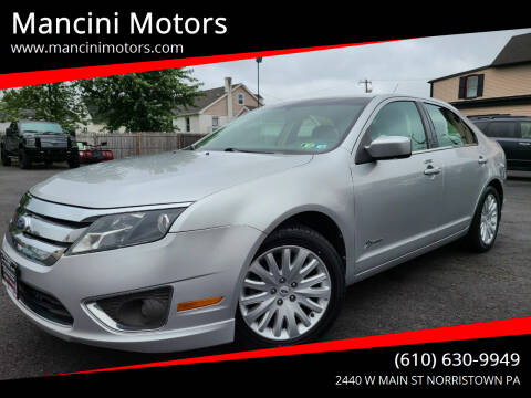 2012 Ford Fusion Hybrid for sale at Mancini Motors in Norristown PA