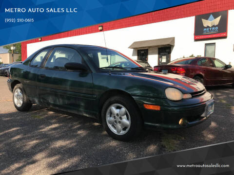 1998 Dodge Neon for sale at METRO AUTO SALES LLC in Blaine MN
