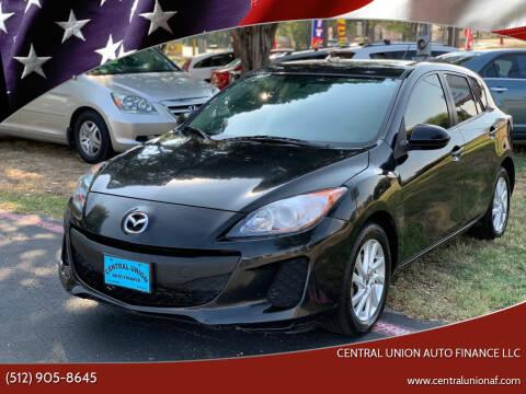 2013 Mazda MAZDA3 for sale at Central Union Auto Finance LLC in Austin TX