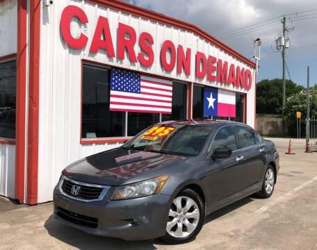 2008 Honda Accord for sale at Cars On Demand 2 in Pasadena TX