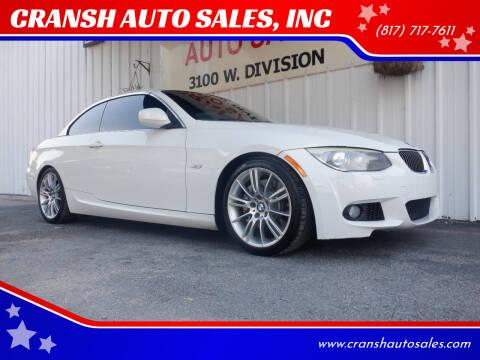 2011 BMW 3 Series for sale at CRANSH AUTO SALES, INC in Arlington TX