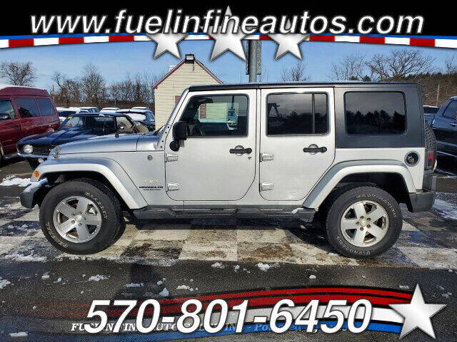 2008 Jeep Wrangler Unlimited for sale at FUELIN FINE AUTO SALES INC in Saylorsburg PA