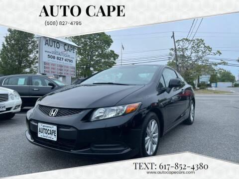 2012 Honda Civic for sale at Auto Cape in Hyannis MA
