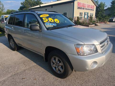 2005 Toyota Highlander for sale at Reliable Cars Sales in Michigan City IN