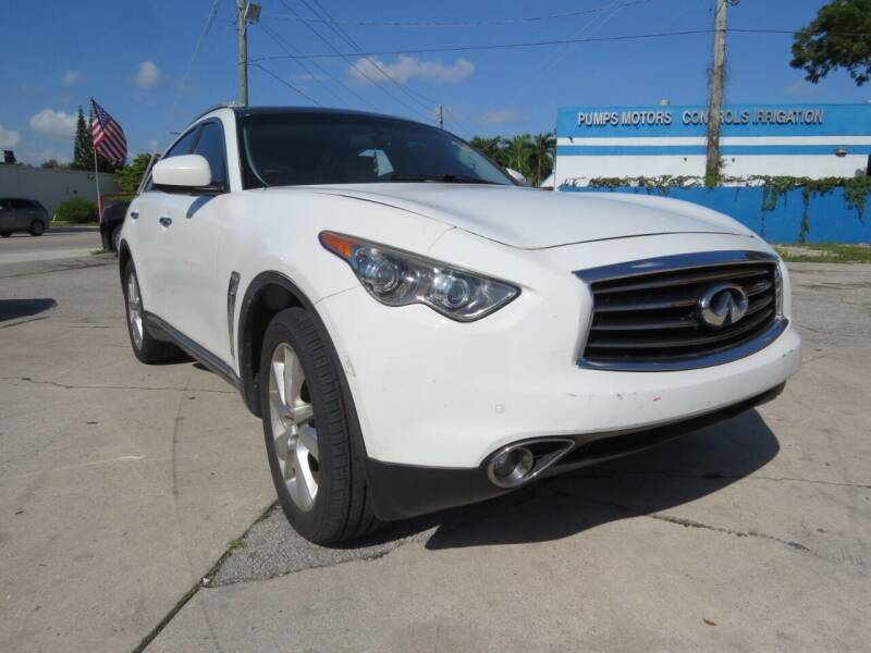 2013 Infiniti FX37 for sale at DK Auto Sales in Hollywood FL