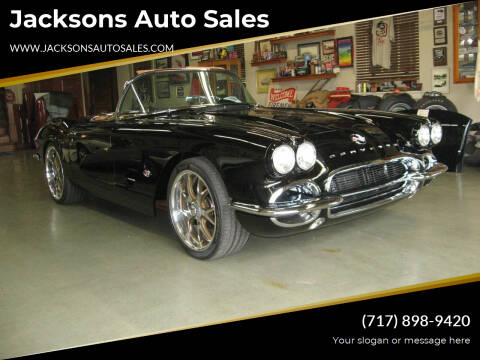 1962 Chevrolet Corvette for sale at Jacksons Auto Sales in Landisville PA