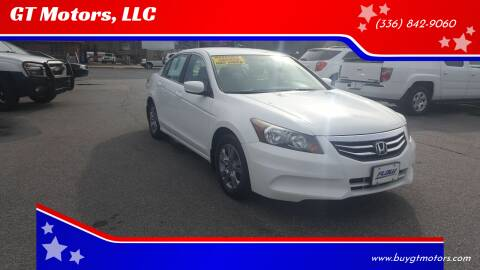2012 Honda Accord for sale at GT Motors, LLC in Elkin NC