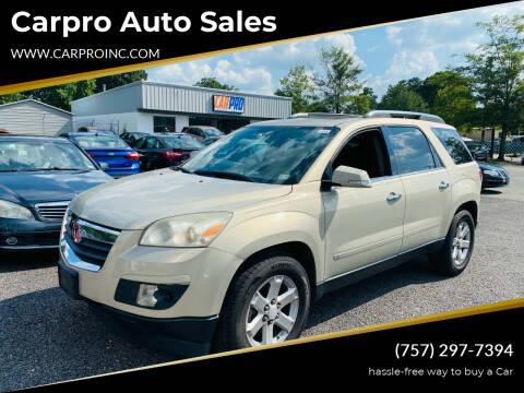 2007 Saturn Outlook for sale at Carpro Auto Sales in Chesapeake VA