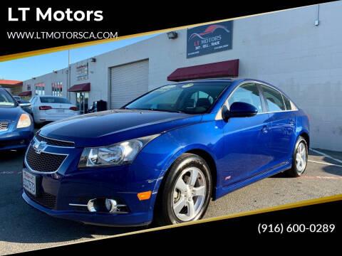 2012 Chevrolet Cruze for sale at LT Motors in Rancho Cordova CA