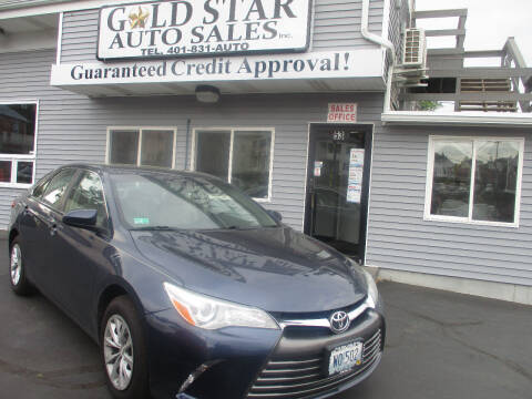 2016 Toyota Camry for sale at Gold Star Auto Sales in Johnston RI