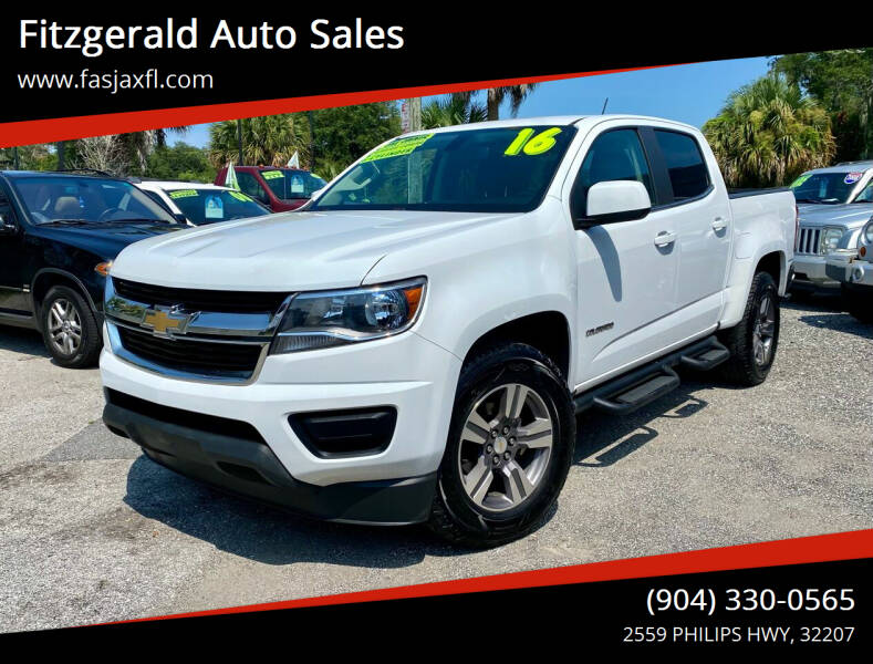 2016 Chevrolet Colorado for sale at Fitzgerald Auto Sales in Jacksonville FL