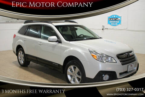 2013 Subaru Outback for sale at Epic Motor Company in Chantilly VA