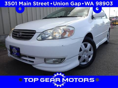 2003 Toyota Corolla for sale at Top Gear Motors in Union Gap WA