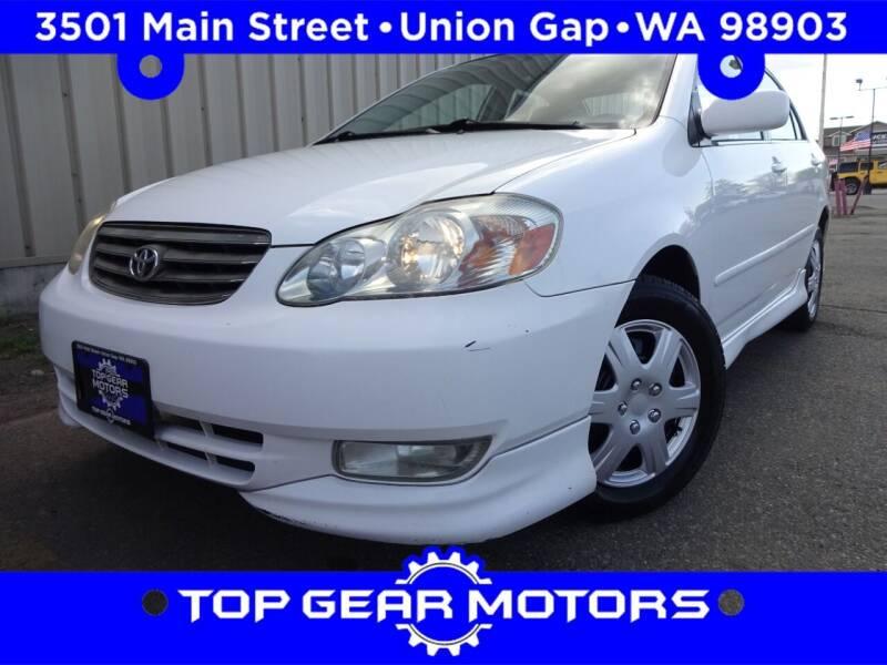 2003 Toyota Corolla for sale at Top Gear Motors in Union Gap WA