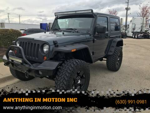 2008 Jeep Wrangler for sale at ANYTHING IN MOTION INC in Bolingbrook IL