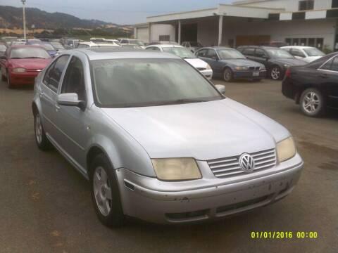 2002 Volkswagen Jetta for sale at Mendocino Auto Auction in Ukiah CA