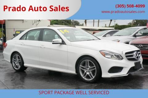 2014 Mercedes-Benz E-Class for sale at Prado Auto Sales in Miami FL