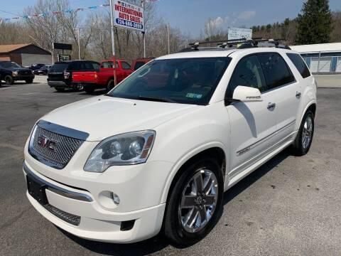 2011 GMC Acadia for sale at INTERNATIONAL AUTO SALES LLC in Latrobe PA