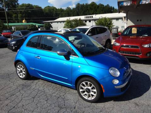 2016 FIAT 500c for sale at HAPPY TRAILS AUTO SALES LLC in Taylors SC