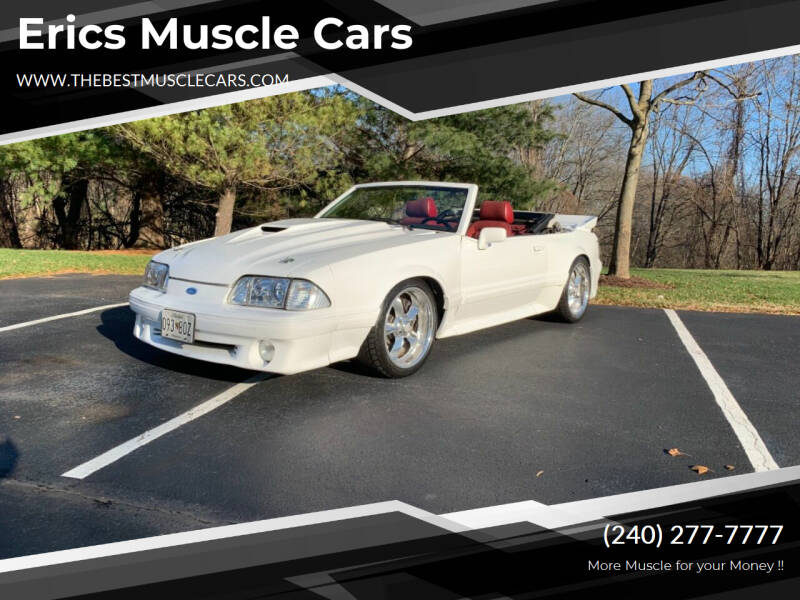 1989 Ford Mustang for sale at Erics Muscle Cars in Clarksburg MD