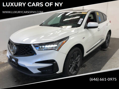 2020 Acura RDX for sale at LUXURY CARS OF NY in Queens NY