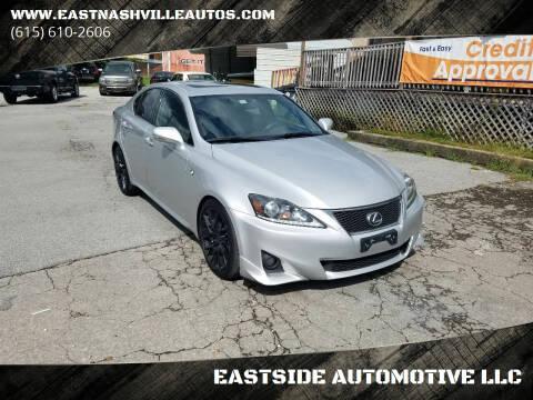 2012 Lexus IS 250 for sale at EASTSIDE AUTOMOTIVE LLC in Nashville TN