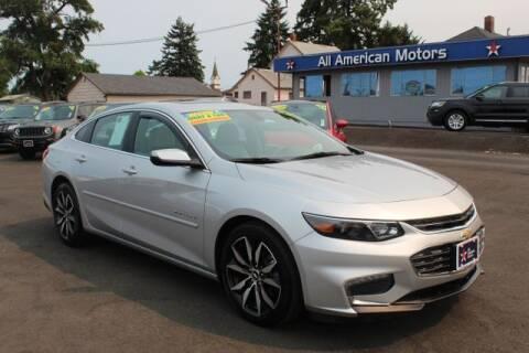 2017 Chevrolet Malibu for sale at All American Motors in Tacoma WA
