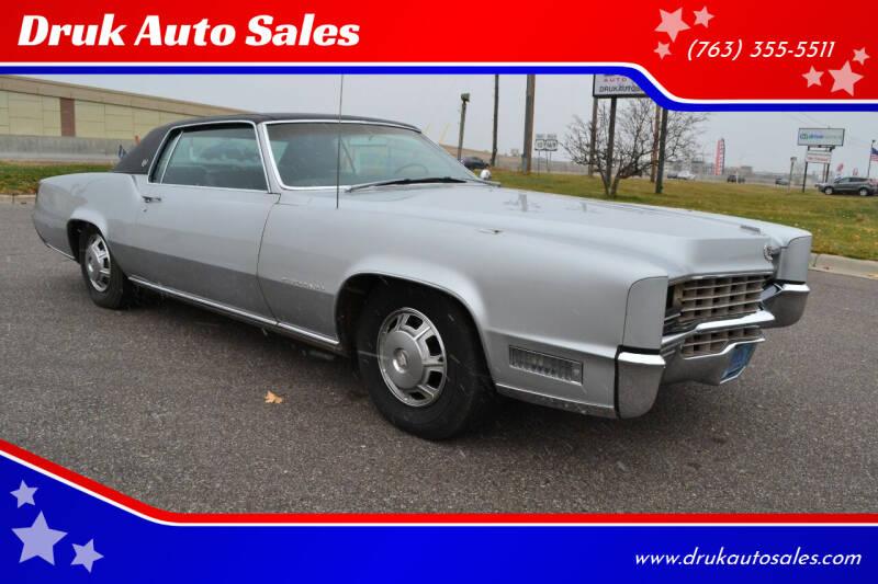 1967 Cadillac Eldorado for sale at Druk Auto Sales in Ramsey MN