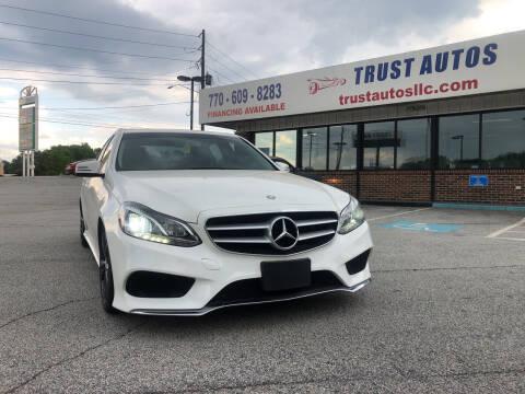 2014 Mercedes-Benz E-Class for sale at Trust Autos, LLC in Decatur GA