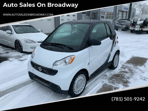 2014 Smart fortwo for sale at Auto Sales on Broadway in Norwood MA
