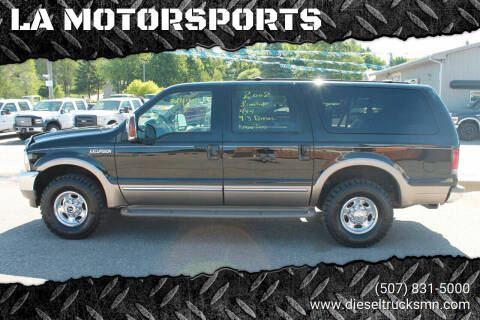 2002 Ford Excursion for sale at LA MOTORSPORTS in Windom MN