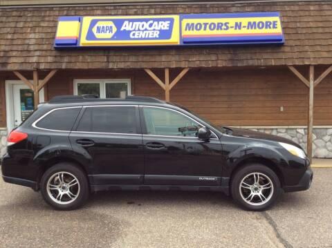 2013 Subaru Outback for sale at MOTORS N MORE in Brainerd MN