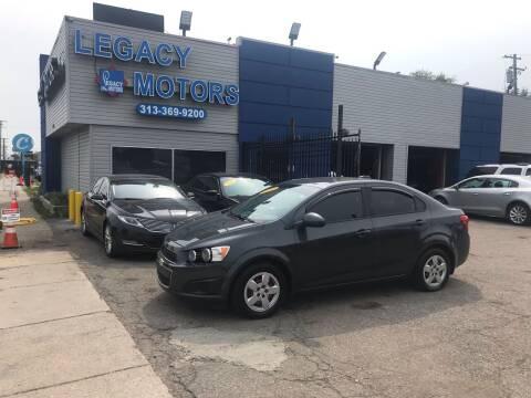 2016 Chevrolet Sonic for sale at Legacy Motors in Detroit MI