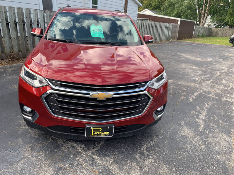 2018 Chevrolet Traverse for sale at PAPERLAND MOTORS - Fresh Inventory in Green Bay WI