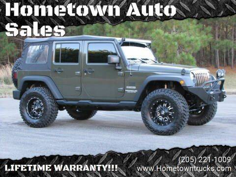 2015 Jeep Wrangler Unlimited for sale at Hometown Auto Sales - SUVS in Jasper AL