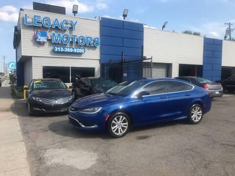 2016 Chrysler 200 for sale at Legacy Motors in Detroit MI